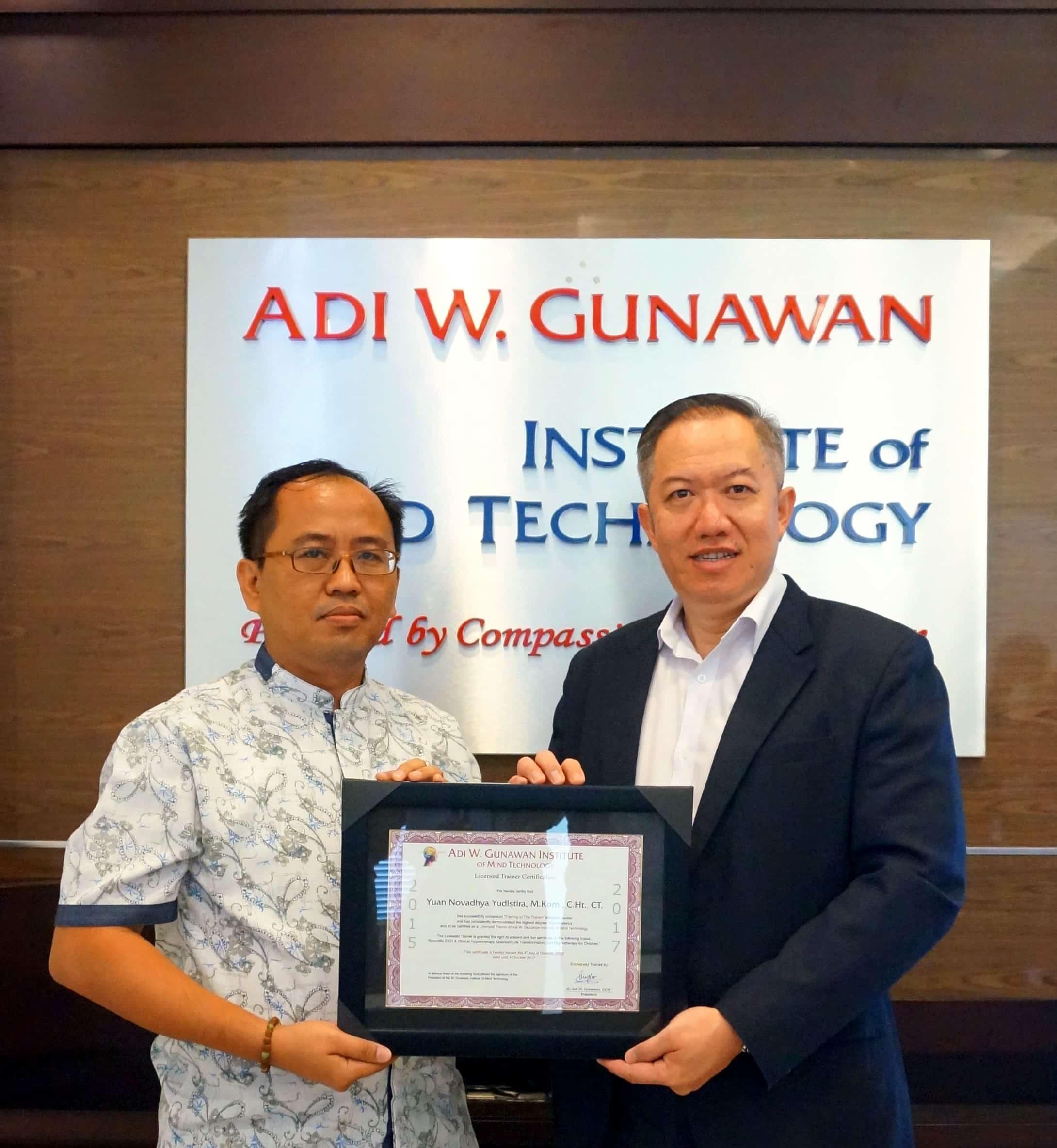 Adi W Gunawan Certified Trainer